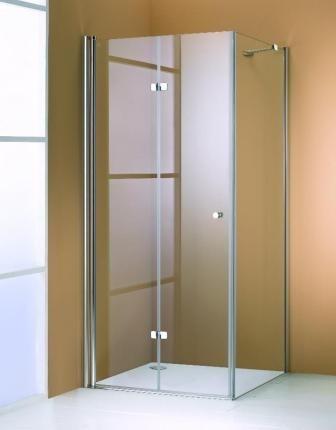 Usa pliabila batanta Huppe Design Elegance 501 Pure 90 cm profil crom mat, sticla clara, orientare stanga
