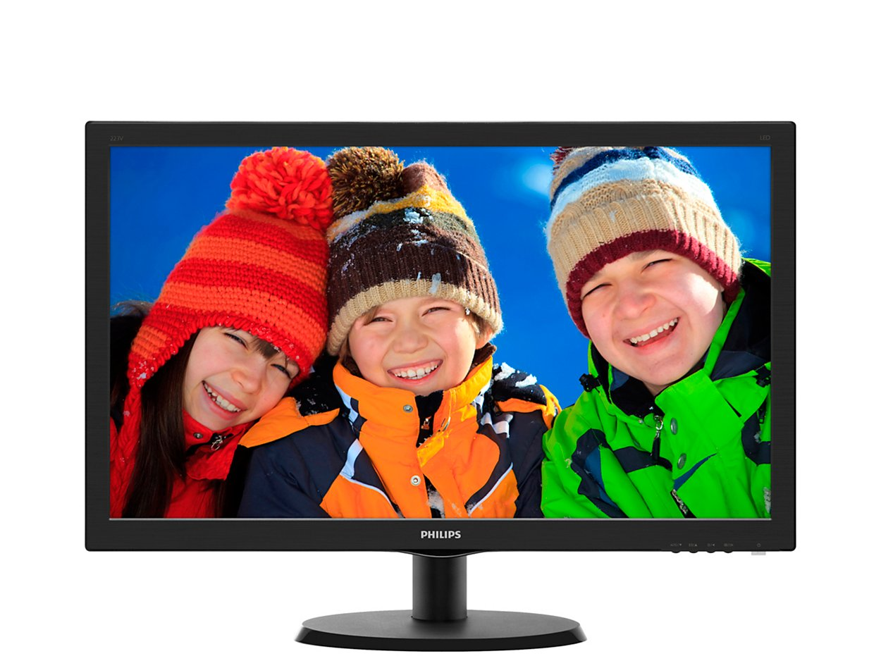 Monitor Led Phlips 223v5lhsb/00 21.5 1920x1080  Black