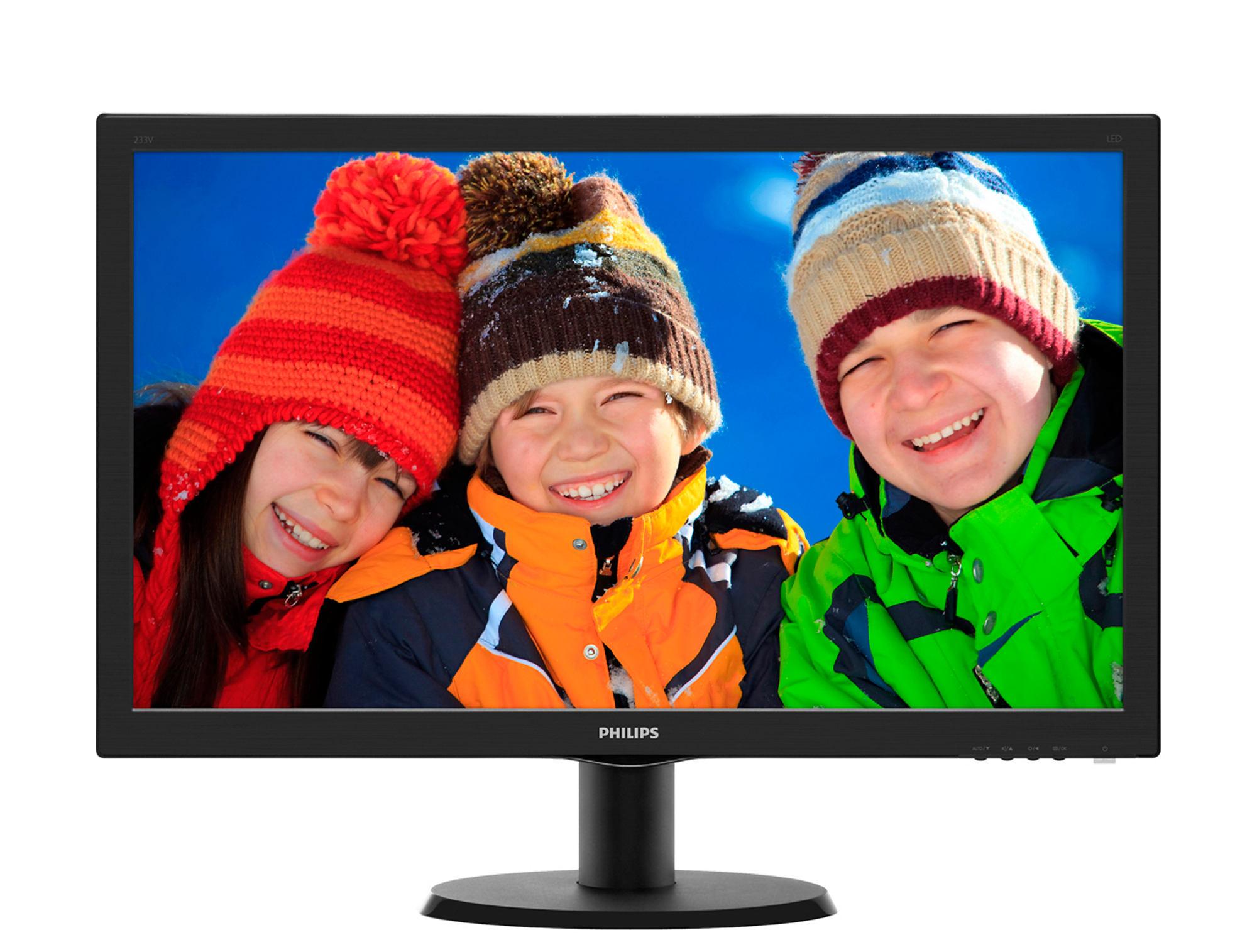 Monitor LED Philips 233V5LHAB 23 1920x1080 16:9 negru lucios