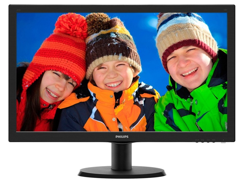 Monitor Led Philips 243v5lsb/00 23.6 1920x1080 16:9  Negru Lucios