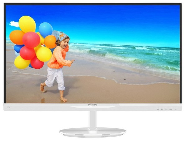Monitor Led Philips 234e5qhaw 23 1920x1080 Ah-ips 16:9 Alb Glossy