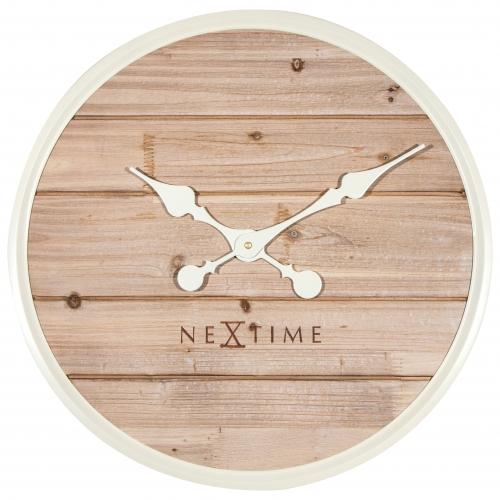 Ceas De Perete Nextime Plank 50cm  White