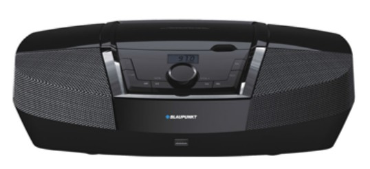 Microsistem Audio Blaupunkt Boombax Bb12bk  Cd Player  Tuner Fm  Usb  2x2w  Black