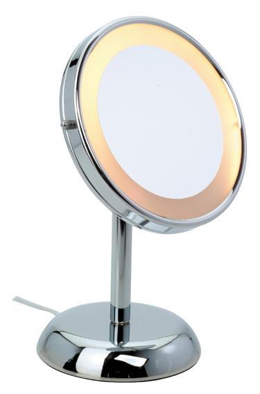 Oglinda Sanwood Jessica 5x, lumina touch, 14cm