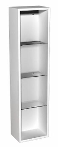 Corp dulap suspendat Kolo Domino cu etajere 30 x 120 x 25 cm alb
