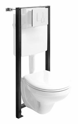 Set WC Kolo Idol vas wc suspendat cu rezervor si cadru incastrat Kolo Unit1