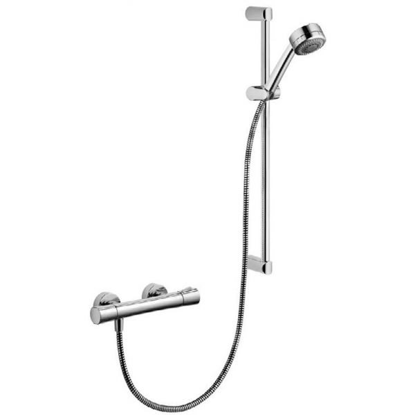 Set Dus Kludi Zenta Shower Duo Cu Baterie Dus Termostatata para Cu 2 Functii Si Bara De 60 Cm
