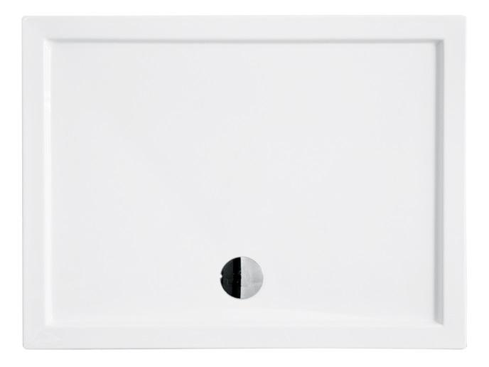 Cadita de dus dreptunghiulara Besco Alpina Slim 120x80 cm
