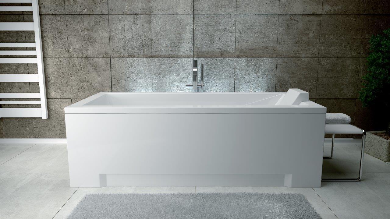 Cada rectangulara Besco Modern din acril 170 x 70 cm