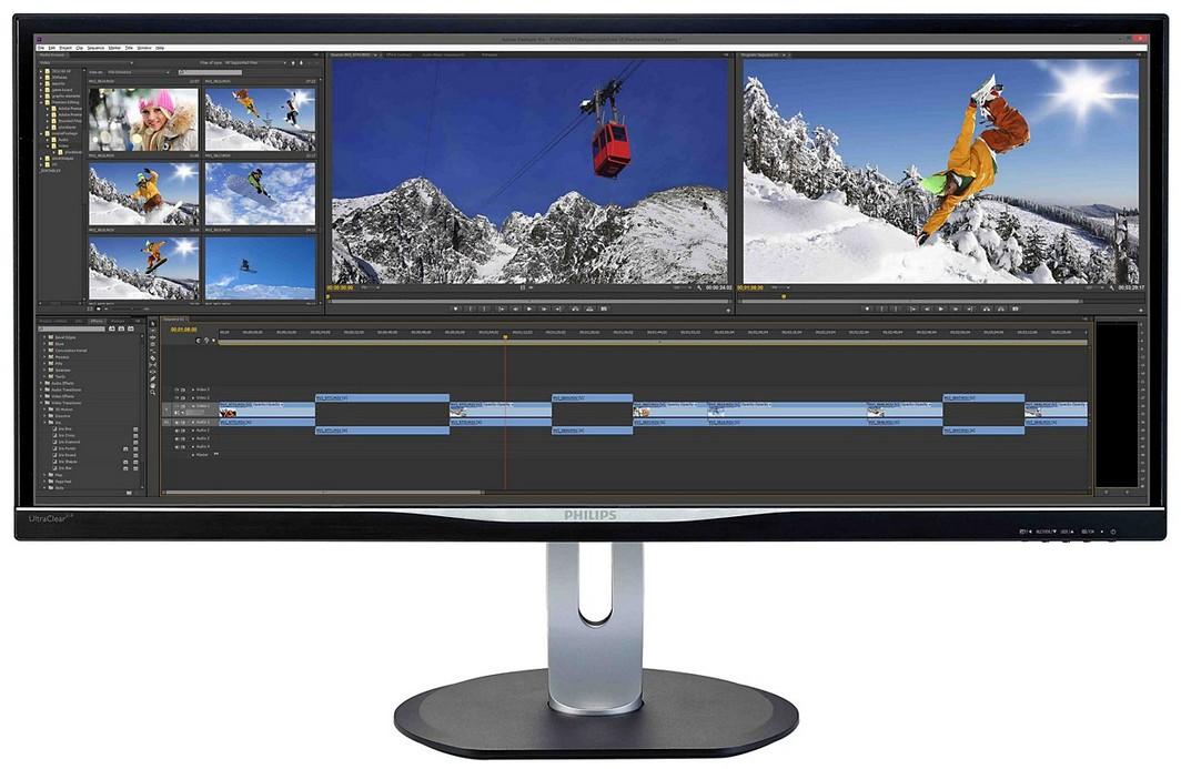 Monitor LED Philips BDM3470UP 34 3440x1440 IPS Negru