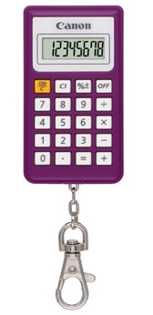 Calculator De Birou Canon Kc30 Euro2012 8digiti  Purple  Tip Breloc