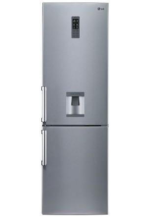 Combina frigorifica LG GBF539PVQWB 349 litri, Total No Frost, Clasa A+, dozator apa, Platinum SIlver