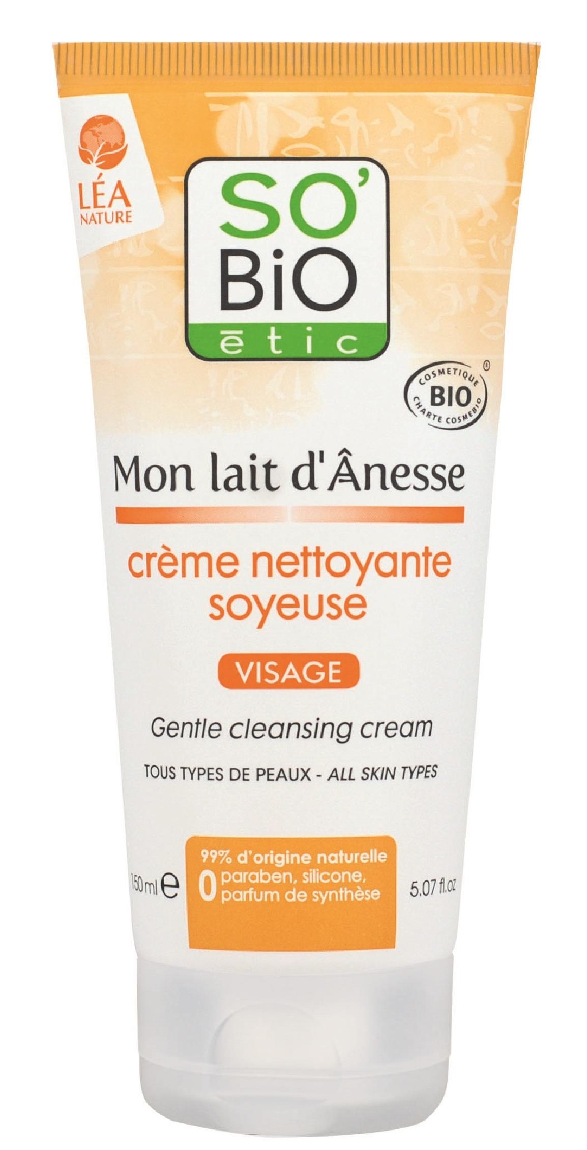 Crema Curatare Delicata So Bio Etic Mon Lait Danesse Cu Lapte De Magarita Eco 150ml