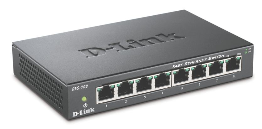 Switch D-link Des-108 8 Porturi  Metal Housing