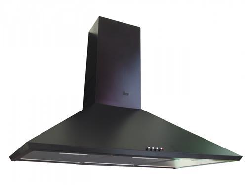 Hota decorativa Teka DBB 60, 60 cm, 440 mc/h, turbina dubla, negru