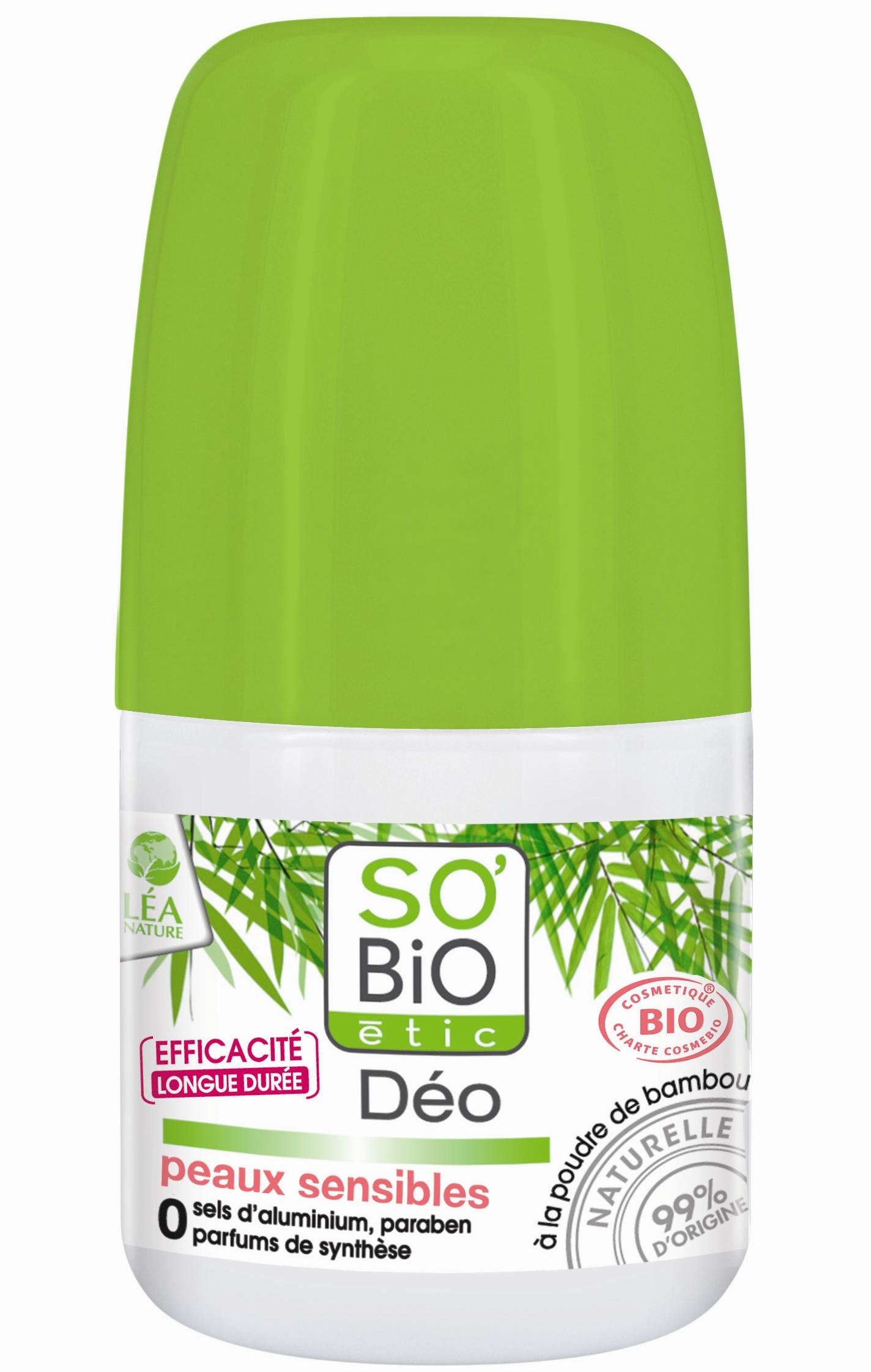 Deodorant So Bio Etic Cu Pudra De Bambus Piele Sensibila  50ml
