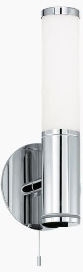 Aplica Eglo Palmera  1x40w  H 29.5cm  Colectia Style  Crom  Sticla Opal Alba