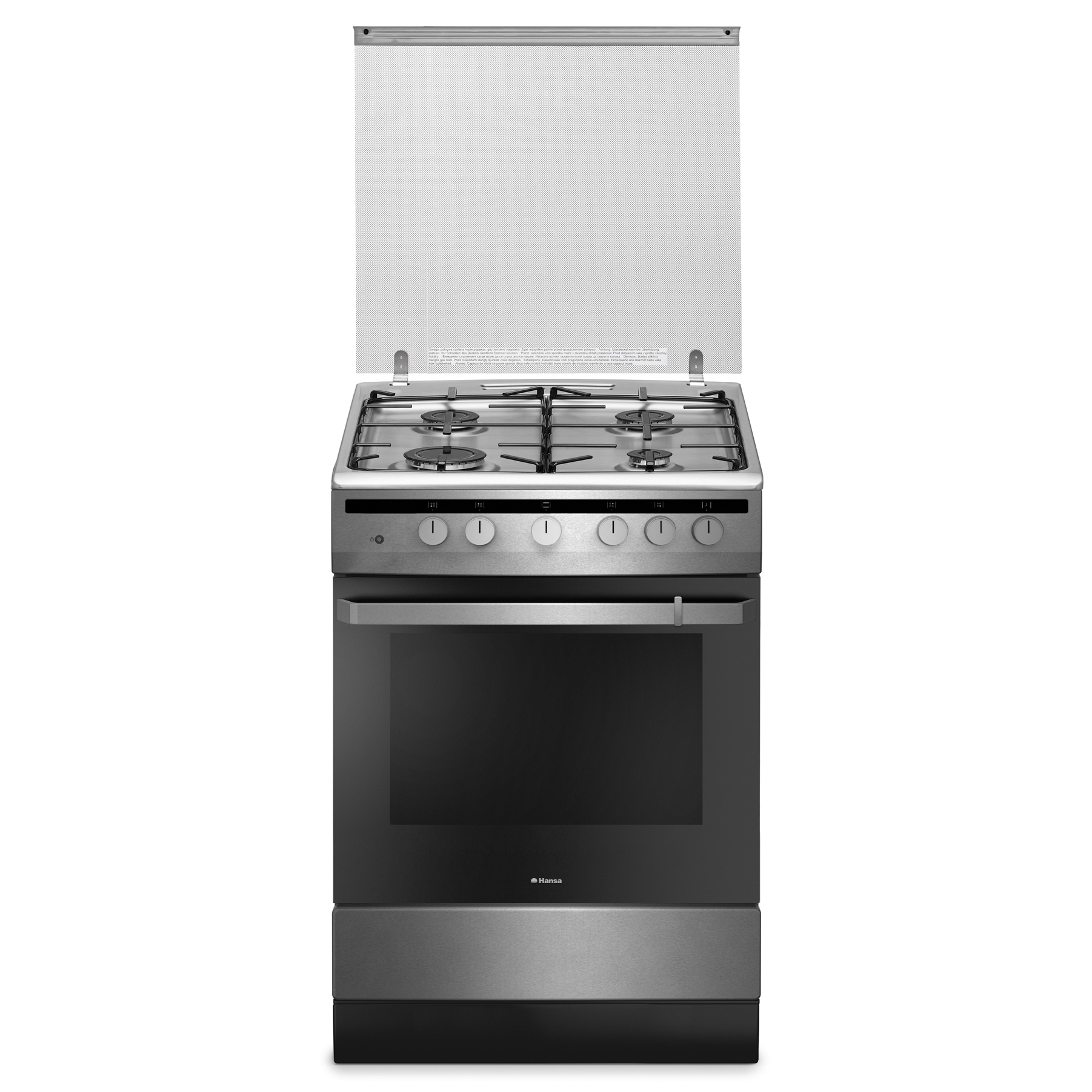 Aragaz Hansa FCGX61109 4 arzatoare, Grill, Rotisor, 60cm, inox