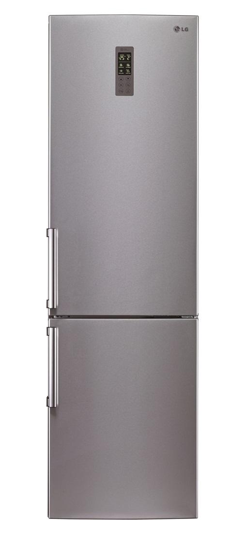 Combina frigorifica LG GBB530PVQPB 343litri Total No Frost, clasa A++, Platinum Silver