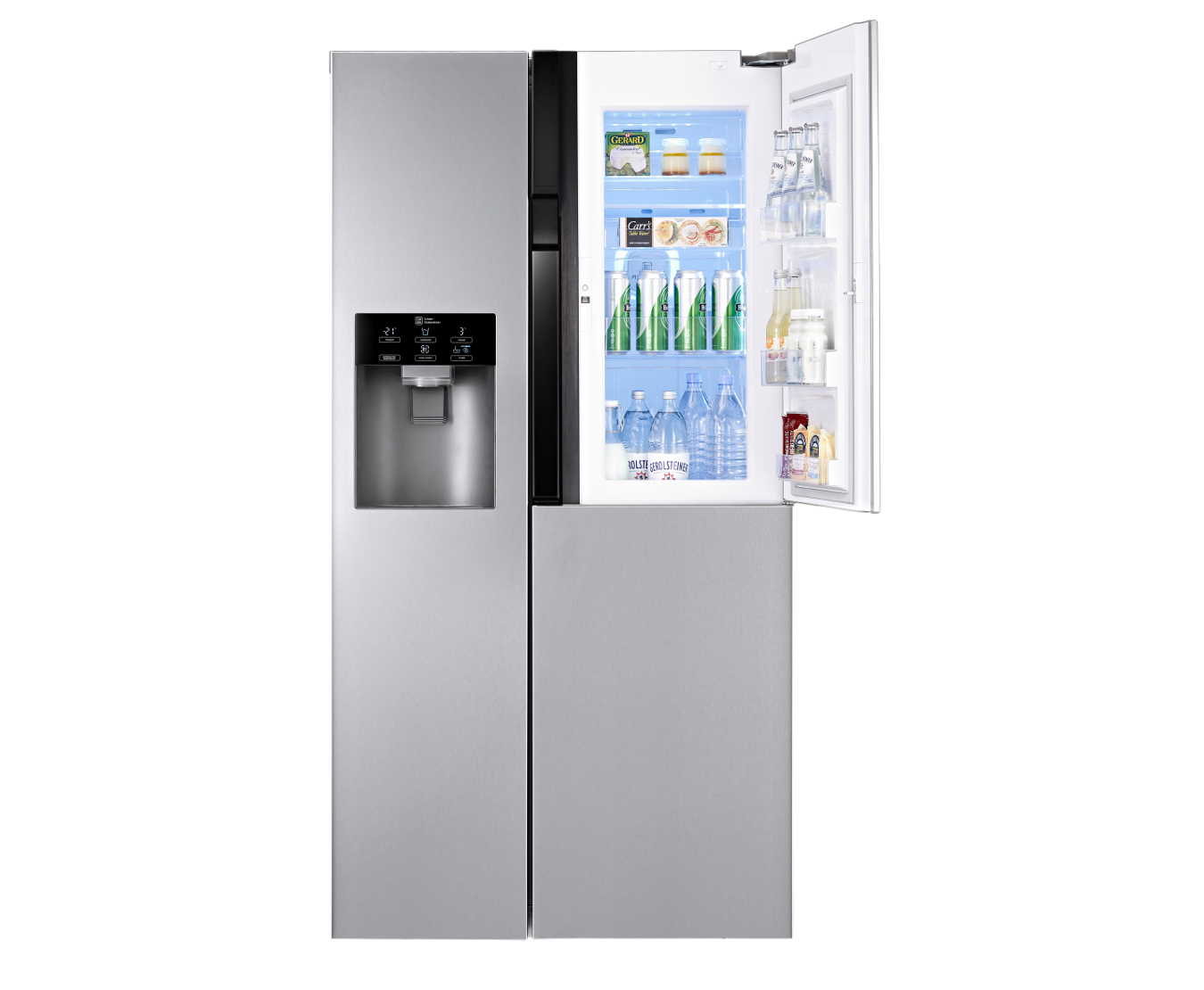 Combina frigorifica Side-By-Side LG GS9366PZYZD 614 litri, Total NO FROST, Door-in-Door, clasa A++, dispenser apa si gheata, Compresor Inverter