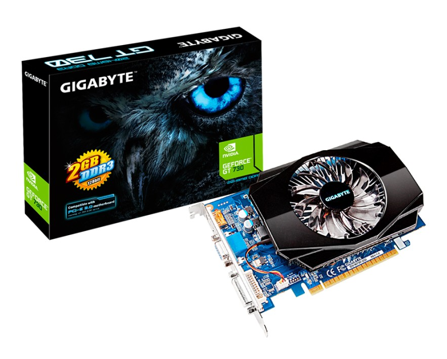 Placa Video Gigabyte N730-2gi Nvidia Geforce Gt730 2gb Ddr3 128-bit