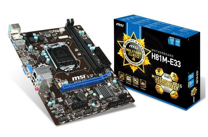 Placa De Baza Msi H81m-e33 Intel H81 Skt 1150 Haswell Matx