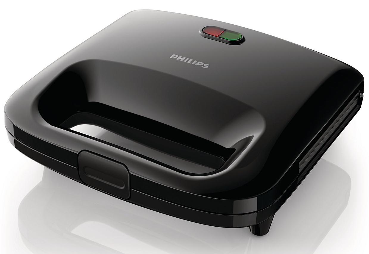 Sandwich Maker Philips Daily Collection Hd2395/90 820w  Plita Panini  Black