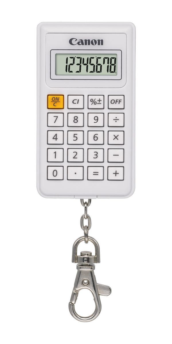 Calculator De Birou Canon Kc30 Euro2012 8digiti  White  Tip Breloc