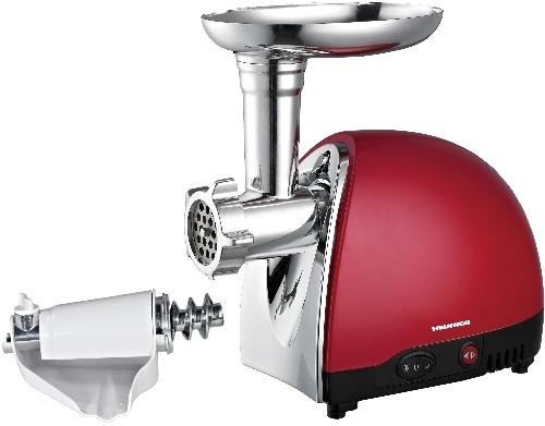 Masina de tocat Heinner MG1200TA-red, 1200W, accesoriu rosii, carnati, 3 site taiere, cutit inox