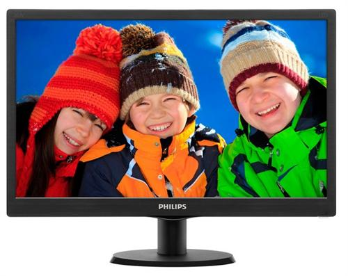Monitor Led Philips 203v5lsb26 19.5wide 1600x900 169  Negru Lucios