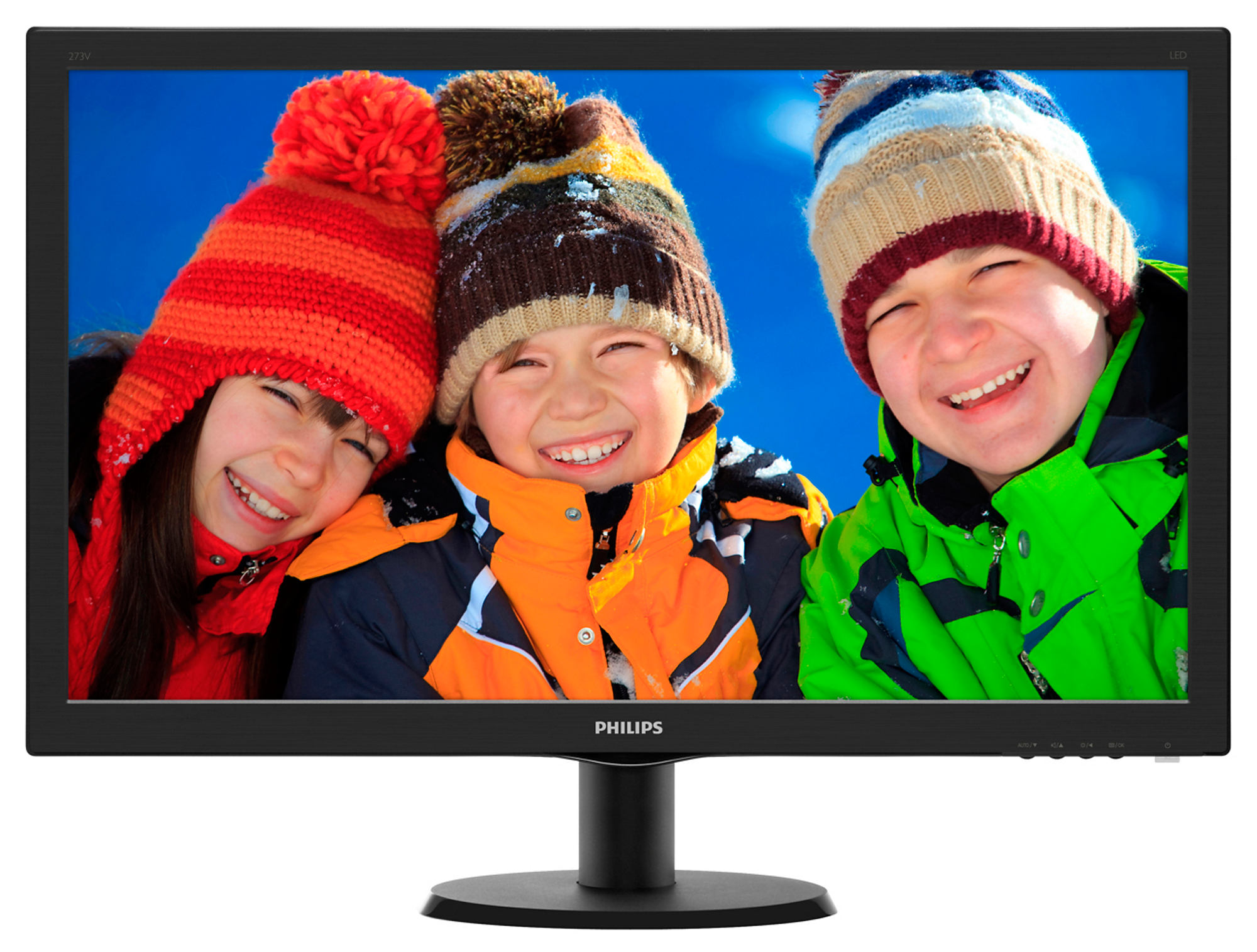 Monitor LED Philips 273V5LHAB 27 1920x1080 16:9 negru carbonite