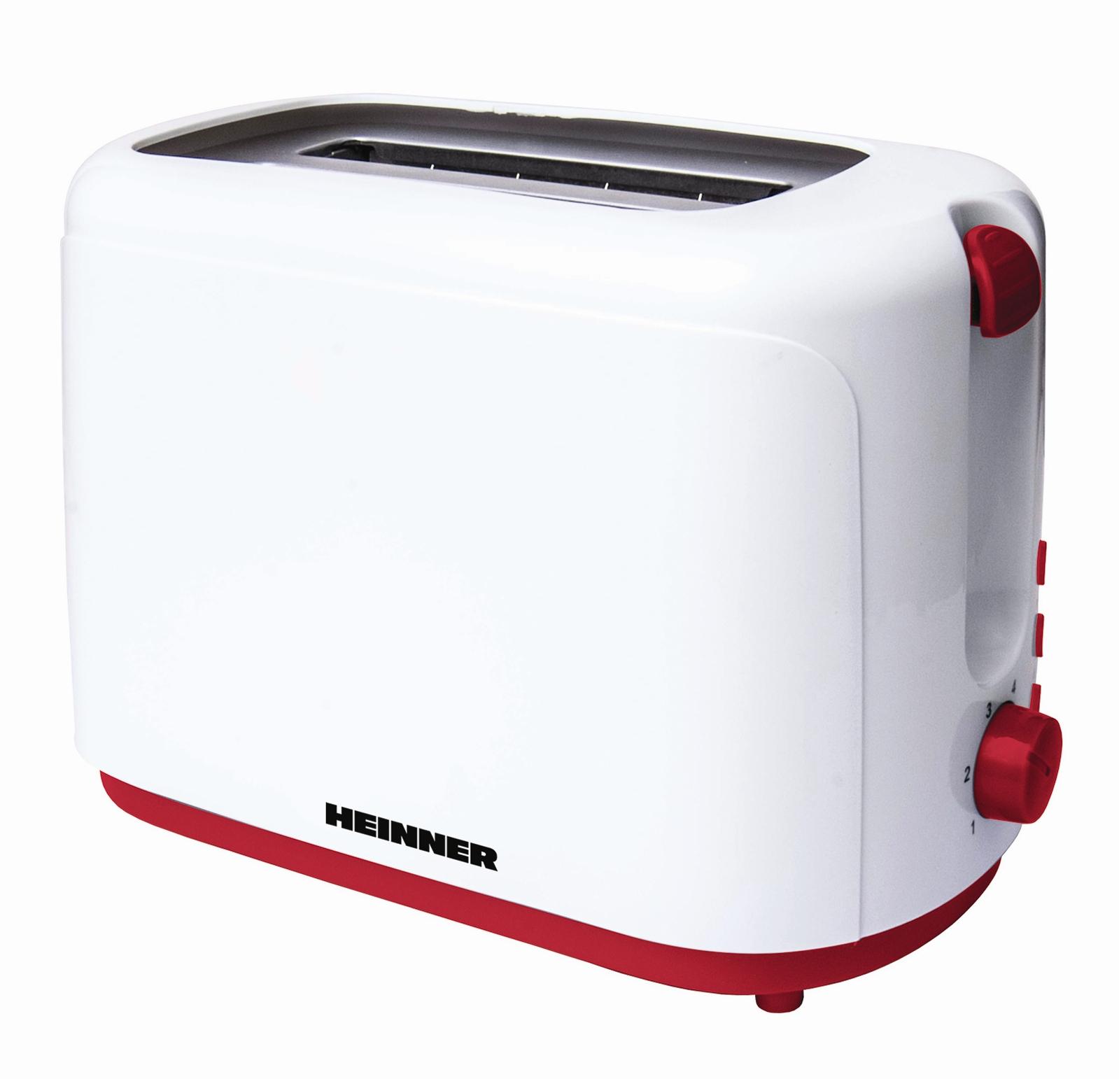 Prajitor de paine Heinner Delice 750 TP-750 750W, 2 felii , alb