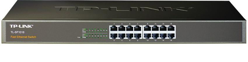 Switch TP-LINK TL-SF1016 16 Port-uri 10/100, carcasa metalica 1U 19-inch