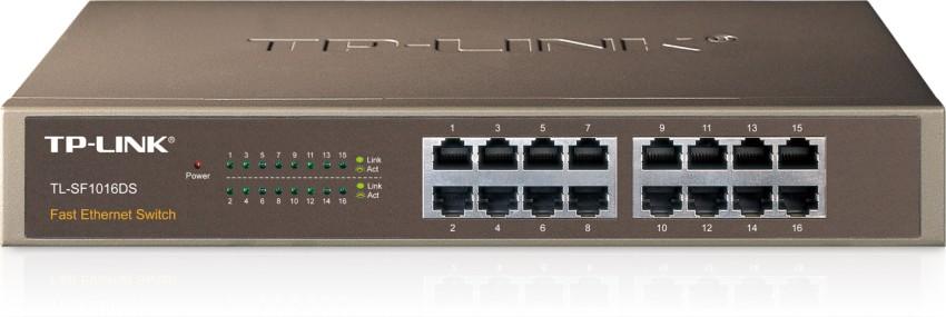 Switch TP-LINK TL-SF1016DS 16 Port-uri 10/100, carcasa metalica 1U 13-inch