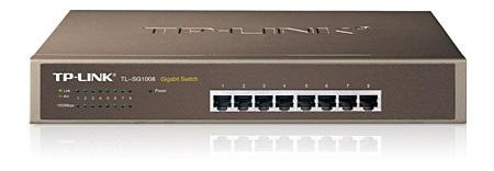 Switch Tp-link Tl-sg1008 8 Port-uri 10/100/1000 Gigabit. Carcasa Metalica 1u