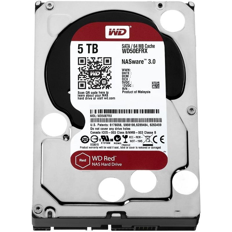 Hdd Western Digital Red 5tb  64mb  Rpm Intellipower  Sata 6 Gb/s  3.5