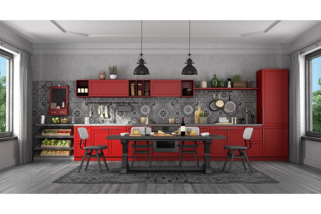 Bucătăria vintage și retro